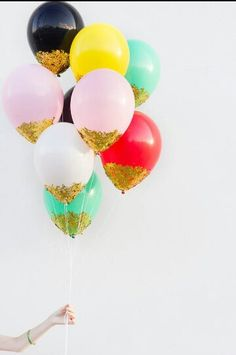 balloons dipped in glitter