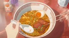 Eating yummy ramen