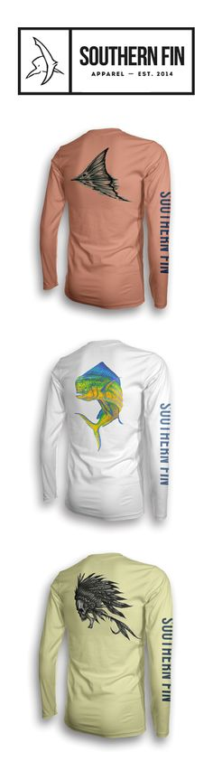 Performance #Fishing Apparel by Southern Fin. These shirts are all 100% microfiber with Moisture Wicking Technology and UPF+ 50 Protection.