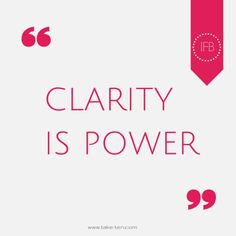 Clarity is Power | www.take-ten.com | Coaching and Consulting for Creative Entrepreneurs and Small Business Owners
