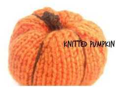 This  knitting project shows you how to make an adorable pumpkin decoration which can be used for table decorations for Halloween, fall or Thanksgiving parties or dinners.
