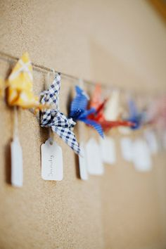 origami crane place card holderStyle Me Pretty | Gallery