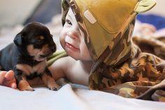 Puppy love. #puppies #baby