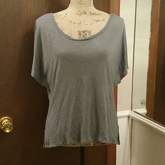 Gray AEO top Simple but cute! American Eagle Outfitters Tops