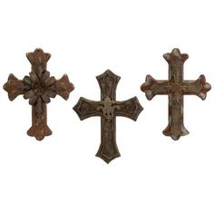 3 Decorative Wall Crosses by Gordon Companies, Inc. $189.00. Picture may wrongfully represent. Please read title and description thoroughly.. Please refer to SKU# ATR25775197 when you inquire.. Brand Name: Gordon Companies, Inc Mfg#: 30711840. This product may be prohibited inbound shipment to your destination.. Shipping Weight: 11.00 lbs. 3 decorative wall crosses/patterned design/antiqued patina finish/small: 23.5''H x 15.5''W/medium: 24''H x 18.25''H (2 this si...
