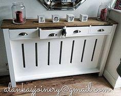 *hallway Dresser* Handmade to Measure Radiator Cover Cabinet Bespoke for sale online Decor, Hallway Decorating, Home, Cabinet, Furniture Diy, Home Radiators, House Inspiration, New Homes, Hallway Cabinet