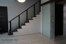 Sliding Glass Door, Sliding Doors, Modern Glass, Stairs, Home Decor, Ladders, Homemade Home Decor, Sliding Door, Stairway