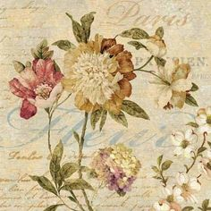 Fleur Paris II - DDV 7203 (GG) de 50x50 cm  [art home decor decoration flower paint artwork artist]