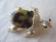 Sea Turtle Brooch Brown Tan Gold Rhinestone Red Vintage Pin Gerry's Tortoise by vintagejewelryalcove on Etsy https://www.etsy.com/listing/285473469/sea-turtle-brooch-brown-tan-gold