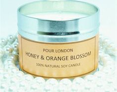 Free UK shipping! Pour London Honey& Orange Blossom Eco soy wax scented candle