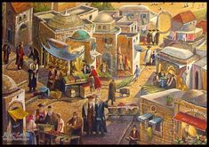 Old City Jerusalem, Medieval Market, Artist, Painting, Google Search, Photos, Pictures, Artists, Painting Art