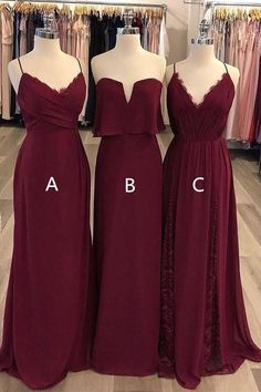 Wedding Burgundy Mismatched Cheap Chiffon Long Wedding Party Bridesmaid Dresses on Luulla Tips For C Mismatched Bridesmaid Dresses, Wedding Bridesmaid Dresses, Wedding Gowns, Prom Dresses, Long Dresses, Party Wedding, Wedding Rings, Formal Evening Dresses, Strapless Dress Formal