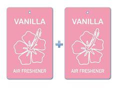 Vanilla Air Freshener Paper Hanging Bar (Pack of 2)/ Car-Home-Office Ecofriendly Fragrance Deodorizer
