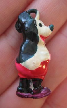 VINTAGE Puffy Celluloid Disney MICKEY MOUSE Cracker Jack Gumball Prize Charm