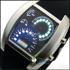 Wholesale - LED Newest Sytle Men Watch Successful Temperament Gift Sports Car Meter Arrival 35pc/lot LED1066