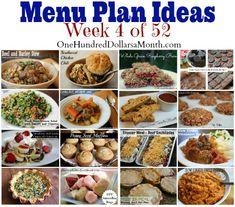 Weekly Menu Plan, Cooking from Your Pantry, Meal Prep, Menu Planning, Simple Recipes, Easy Dinners, Menu Plan Ideas