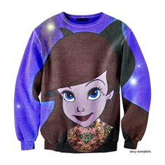 Alternative Ariel Sweater. Amazzeee. Mermaid fo' life. ❤ liked on Polyvore featuring tops, sweaters, disney, shirts, brown sweater, shirts & tops, brown tops and brown shirt