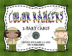 Color Rangers 2-Part Matching Cards from The-Schoolhouse on TeachersNotebook.com -  (5 pages)  - These little rangers are searching for the color paw print that matches their color word.