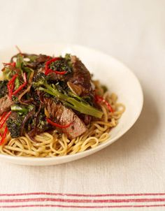 Juicy steak, crunchy greens and sticky soy sauce – this beef and broccoli stir-fry recipe is a joy