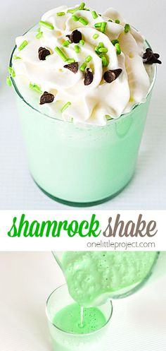 A yummy treat for St. Patrick's Day, this shamrock shake recipe is so easy to make at home! And it really does taste just like the real thing from McDonald's! Yummy Treats, Sweet Treats, Shamrock Shake, Keto Desserts, Vegetarian Chocolate, Candy Recipes, Easter Crafts, St Patrick, Gadget