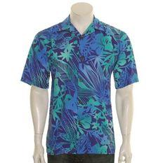 M.MAC • Royal Blue • Honu Turtle Print •  Tunic Top 3//4 Sleeve • Made in USA