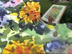 Painting Flowers Loosely in  watercolour part 2 of 2