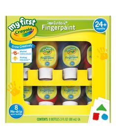 Loving this Eight-Ct. My First Crayola Washable Finger Paint Set on #zulily! #zulilyfinds