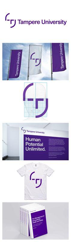 New identity for Tampere University by Porkka & Kuutsa.