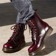 Nuevos 2015 forman a mujeres de la motocicleta botas otoño cuero genuino de mediano pierna botas de Martin botines casuales para mujer de los zapatos 1/4(China (Mainland))