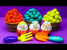 Play Doh Ice Cream Bowls Kinder Slime Surprise eggs PJ masks, Paw Patrol, Chupa chups, barbie - YouTube