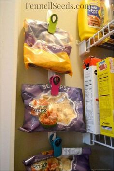 I've put together a list of creative kitchen pantry organization projects which will transform the way you view your pantry! Find out more in the post below. Kitchen Pantry Organization Projects That…More Organisation Hacks, Bag Organization, Organizing Ideas, Organization Ideas For The Home, Organising Hacks, Pallet Organization Ideas, Dollar Tree Organization, Small Space Organization, Kitchen Organization Pantry