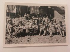 Items similar to Family at the Beach, Vintage Photograph, 006 on Etsy