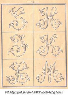 A flourish-y french alphabet - download all the patterns here: http://www.mediafire.com/file/bkc6fo3rarpu1la/Alexandre_238.rar