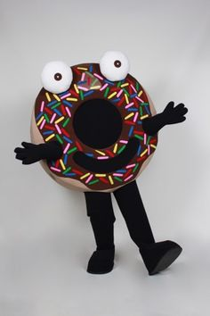 Arnie the Doughnut Costume Mascot for promotional use at schools libraries and bookstores. Bookstores, Libraries, School Spirit Days, Mascot Costumes, Book Characters, Doughnut, Childrens Books, Schools, Library Ideas