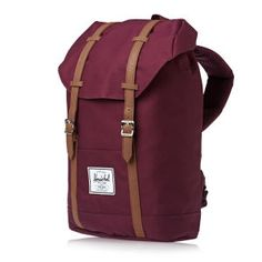 Herschel Retreat Backpack - Windsor Wine/tan Pu | Free UK Delivery*