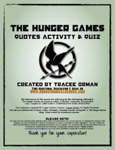 Hunger Games Activities and Trivia Game