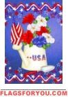 Patriotic Petunias Garden Flag Patriotic Flags, House Flags, Garden Flags, Petunias, 4th Of July, Decor, Decoration, Dekoration, Inredning