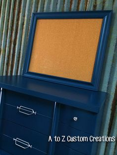 Blue Retro Dresser by A to Z Custom Creations