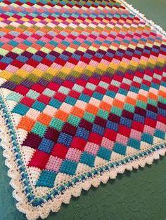 Crochet For Children: Tunisian Crochet Entrelac Throw - Free Pattern