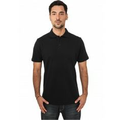 URBAN CLASSICS BLACK BASIC POLO - Polo Shirts - Menswear