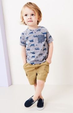 Ideas for moda infantil varones verano Toddler Boy Fashion, Little Boy Fashion, Toddler Boy Outfits, Baby Kids Clothes, Fashion Kids, Toddler Boys, Teen Boys, Fashion Clothes, Children Outfits