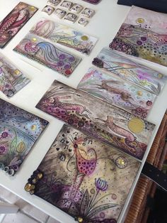 By Helen Shearer Porcelain pieces ready to be framed, part of our October exhibition.