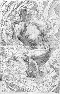 Superman Unchained, pencils by Jim Lee