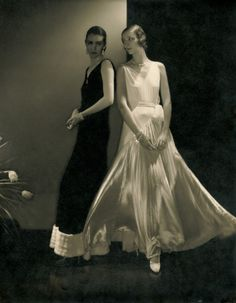Dresses by Madeleine Vionnet. Photo by Edward Steichen: Marion Morehouse and unidentified model