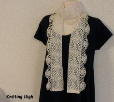 lace & crochet scarf