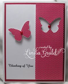 Thinking of You card - Butterfly Punch Card by Linda Guild