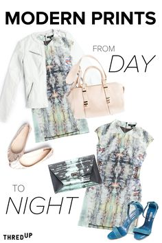 Take your look from day to night, featuring Modern Prints.