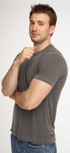Chris Evans. I love Captain America