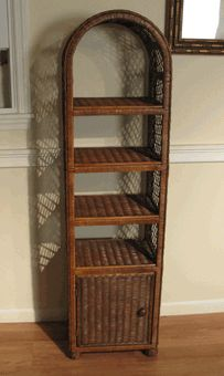 Wicker bathroom shelf via @wickerparadise #wicker #bathroom #shelf #cabinet www.wickerparadise.com