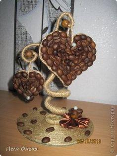Интерьер Поделка изделие Моделирование конструирование Кофейная любовь Кофе Шпагат фото 1